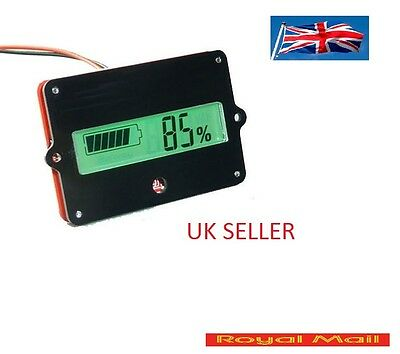 LIPO  Battery Capacity Tester Indicator For 12V Lead-acid Lithium LiPo LCD #B92 • 7.69£