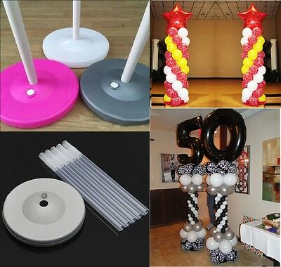 $22.95 • Buy 2 Sets Balloon Column Arch Base Upright Pole Display Stand Kit Wedding Party USA