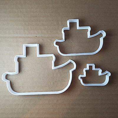 Boat Ship Steam Fishing Shape Cookie Cutter Beach Biscuit Pastry Fondant Sharp • 7.49£