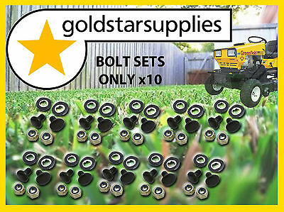 AU39.95 • Buy 10 X SETS OF GREENFIELD RIDE-ON MOWER BOLTS, NUTS & WASHERS.