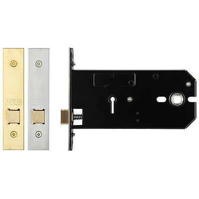 Horizontal Mortice Lock Cases (3 Lever, Euro Profile, Bathroom & Latch) SSS/PVD • 17.96£