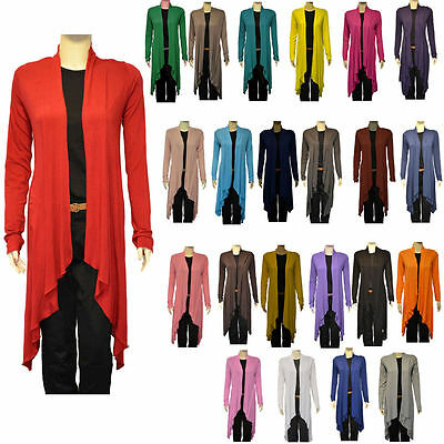 Justyouroutfit Womens Ladies Viscose  Waterfall Open Cardigan One Size 5320 • 7.99£