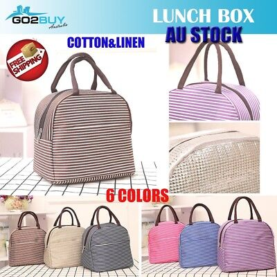 AU8.95 • Buy Portable Insulated Thermal Cooler Lunch Box Carry Tote Picnic Case Storage Bag