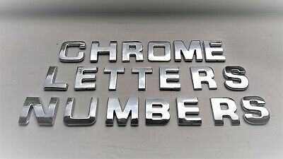 *70p EACH * 3D TOP QUALITY ADHESIVE CAR CHROME LETTERS + NUMBERS,  2 For £1.40  • 1.40£