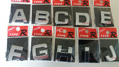 £0.99 • Buy   3D SELF ADHESIVE CAR CHROME LETTERS +  NUMBERS,  27mm Tall,