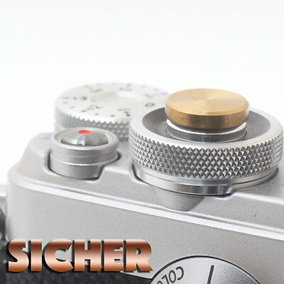 £5.99 • Buy SICHER Soft Release Shutter Button For Cameras. Quality Brass. GOLD Flat.