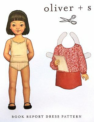 Oliver And S Sewing Pattern - Book Report  Dress - 6 Months - 4 Years • 9£
