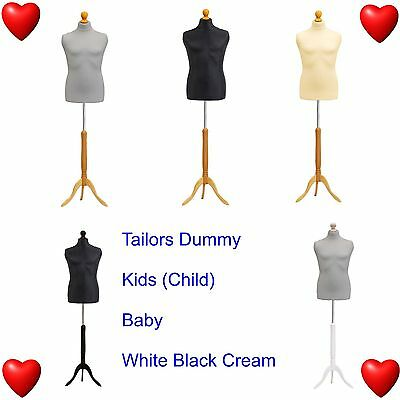 Tailors Dummy Kids Child Baby Dressmakers Bust Retail Display Fashion Mannequin❤ • 28.86£