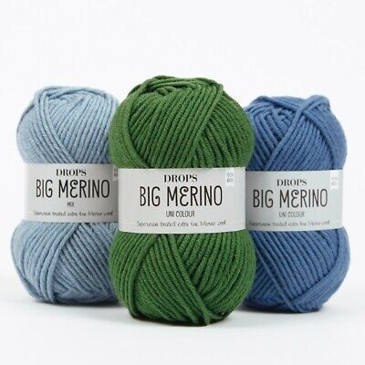 Drops 100% Merino Aran Yarn - Big Merino - Superwash Luxury Knitting Wool 50g  • 3.10£