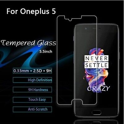 AU4.95 • Buy For OnePlus 5 Tempered Glass Screen Protector Film For One Plus 5 Five