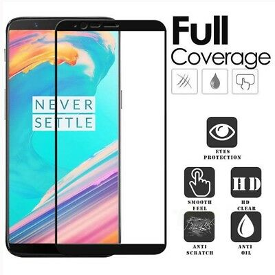 AU6.49 • Buy 3D FULL SCREEN COVER TEMPERED GLASS Screen Protector Guard For OnePlus 5