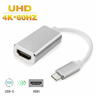 AU25.64 • Buy USB 3.1 Type C To HDMI/VGA Adapter Cable 4K@60Hz For 2016 Macbook Pro Chromebook