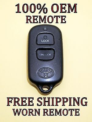 $138.95 • Buy 100% Oem Original Toyota Keyless Entry Remote Fob Transmitter Bab237131-056 Worn