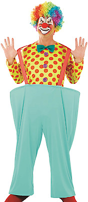 £26.99 • Buy Mens Bright Spotty Comedy Clown Circus Fancy Dress Costume Outfit M L XL