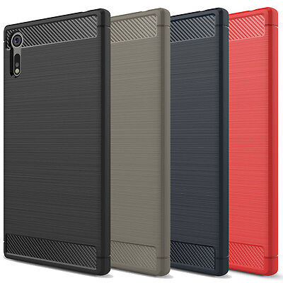 AU9.99 • Buy Shockproof Heavy Duty Carbon Fiber Case Cover For Sony Xperia XZ2 XZ XZ Premium