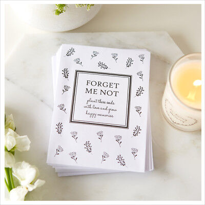 25 Unfilled Forget Me Not Seed Packet Funeral Favour Envelopes - Condolence • 7.99£