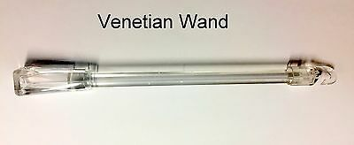 £7.95 • Buy VENETIAN BLIND 300mm To 750mm WAND/ROD/CONTROL/STICK - Hook On Style - NEW CLEAR