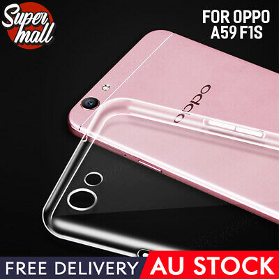 AU3.99 • Buy Oppo A59 F1s Case Clear Soft Gel TPU Flexible Clear Fitted Case Cover Slim