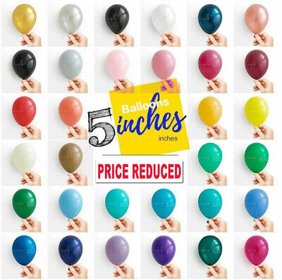 £2.99 • Buy 5 Inch Small Round Best Latex Balloons 100 Quality Standard Ballon Colour Baloon