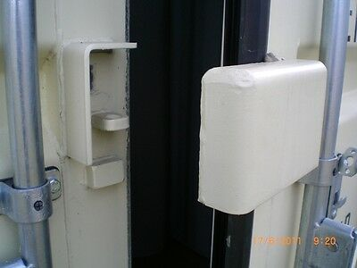 AU59 • Buy Shipping Container Lock Box, Secures You Pad Lock, Solid & Safe, Bolt Or Weld On