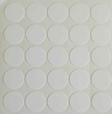 £1.79 • Buy 20 X 18mm Self Adhesive Screw Hole Cam Cover Cap White Furniture Kitchen Bedroom