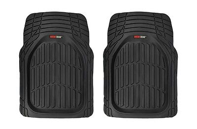 $29.50 • Buy Odorless Deep Rubber Large Front Car Floor Mats 2 Piece Set - All Weather Black