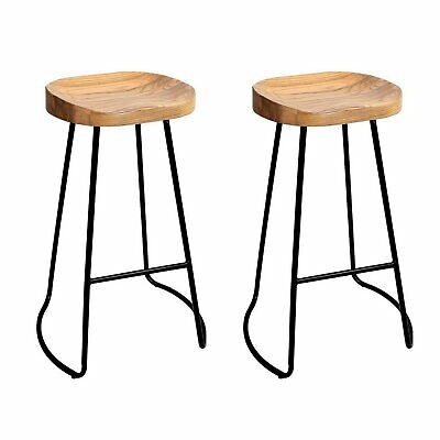AU185.90 • Buy 2x Vintage Tractor Bar Stool Retro Barstool Industrial Dining Chairs 75cm