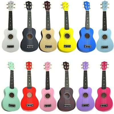 High Quality 21 Acoustic Basswood Musical Hawaiian 4-String Ukulele For Beginer • 29.99$
