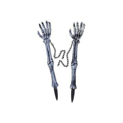Skeleton Hand LAWN STAKES Horror Halloween Fancy Dress Party Prop Decoration • 8.99£