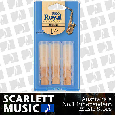AU16.95 • Buy Rico Royal Alto Sax Saxophone 3 Pack Reeds Size 1.5 (1 1/2 - One And A Half) 3PK