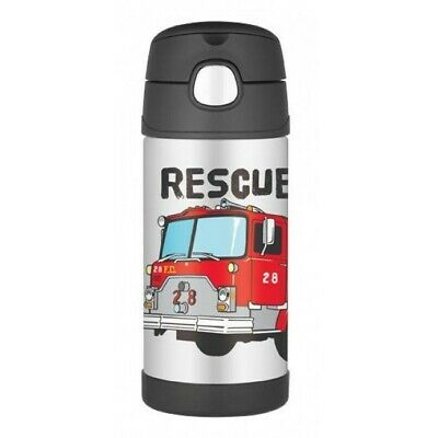 AU16 • Buy THERMOS Drink Bottle 355ml Fire Truck AUTHENTIC Kids Lunch Box