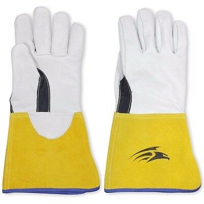 Tig Mig Leather Welding Heat Work Gloves Made With Kevlar Stiching Sz 10 L - XL • 7.95£