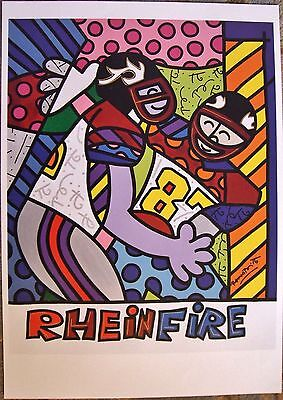 $ CDN79.43 • Buy Romero Britto Poster: Rhein Fire Nfl Europe Poster (germany) ** Mint **