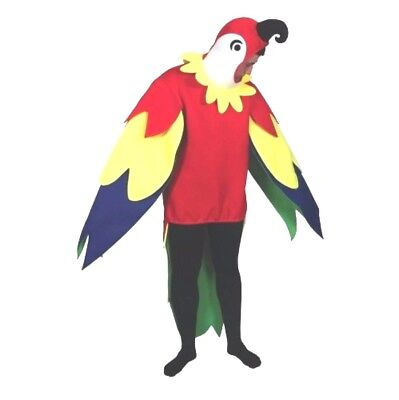Adult POLLY PARROT Fancy Dress Costume Stag Hen Party Novelty Bird Mascot Unisex • 22.95£