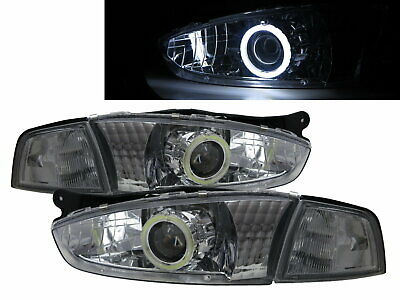 $356.49 • Buy LANCER 07/96-07/98 Coupe 2D COB Projector Headlight Chrome For MITSUBISHI LHD