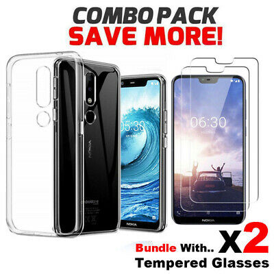 AU4.95 • Buy Soft Gel Clear Transparent Case Cover For Nokia 1 2.1 3 5 6 6.1 X6 7.1 7 Plus 8