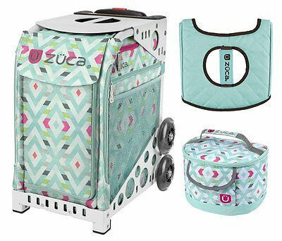 £164.58 • Buy Zuca Sport Bag - Chevron With GIFT Lunchbox And Seat Cover (White Frame)