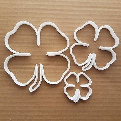 Four Leaf Clover Shamrock Shape Cookie Cutter Dough Biscuit Pastry Fondant Sharp • 6.79£