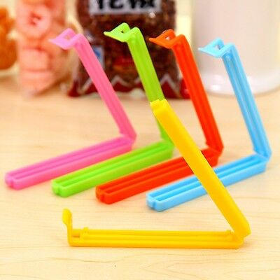 5 X Food Bag Clips Reusable Tie Plastic Storage Sealing Fridge Freezer Fresh • 1.99£