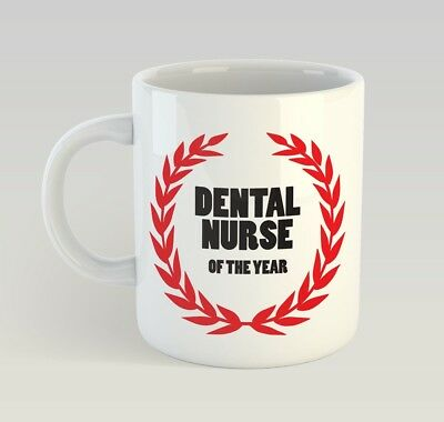Dental Nurse Of The Year Funny Mug Gift Novelty Humour Birthday Dentist • 9.99£