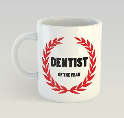Dentist Of The Year Funny Mug Gift Novelty Humour Birthday Dental • 9.99£