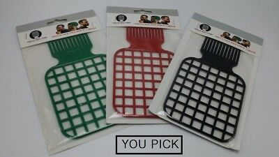$7.99 • Buy Afro & Twist Comb (Black, Green, Red) - YOU PICK !!