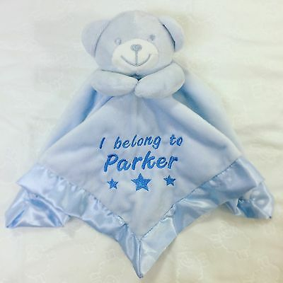 £10.99 • Buy Personalised Embroidered Teddy Bear Baby Comforter Snuggle Blanket Gift Newborn