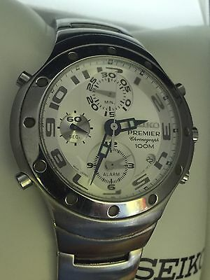 $ CDN266.68 • Buy Seiko Premier Chronograph 100m 7T32-7H80 Watch! Runs Great! Good Condition!!!