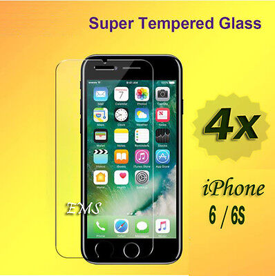 AU2.99 • Buy 4X Tempered Glass LCD Screen Protector For Apple IPhone 6 6S