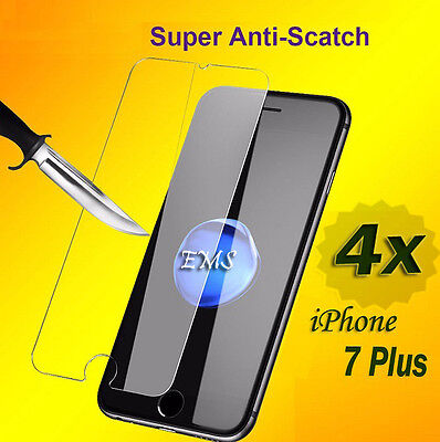 AU3.49 • Buy 4X Tempered Glass LCD Screen Protector For Apple IPhone 7 Plus 8 Plus 6 6S Plus