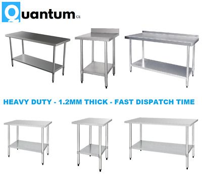 £32.99 • Buy Stainless Steel Table Work Bench Catering Table Kitchen Top 2ft To 6ft