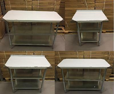 Stainless Steel Table With Extra Shelf Work Bench Catering Table Kitchen Top • 128.99£