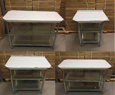 Stainless Steel Table With Extra Shelf Work Bench Catering Table Kitchen Top • 39.99£