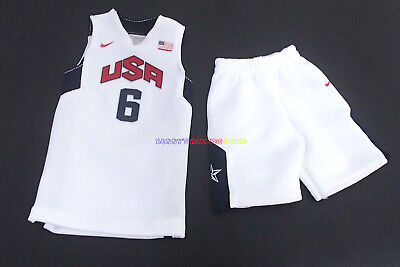 $21.99 • Buy 1/6 NBA USA Dream Team Olympic 2012 #6 LeBron James Jersey For Enterbay Figure